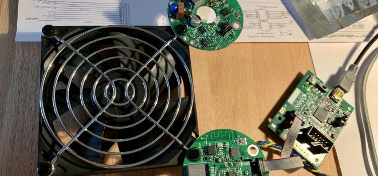 Testování vibrací motorem
