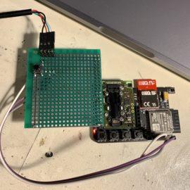 Prototypová deska na prototypu