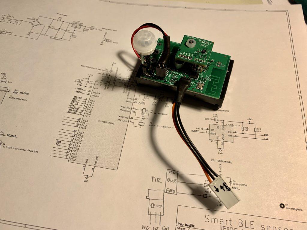 Připravený senzor k testování