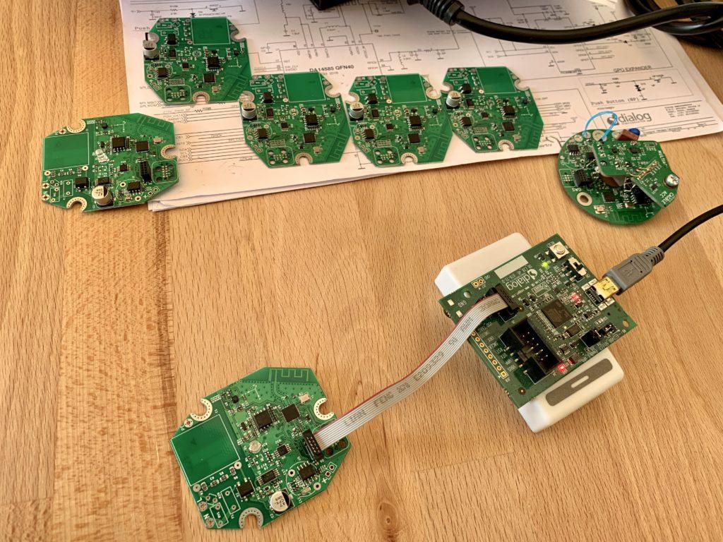 Testování nové verze senzoru vibrací