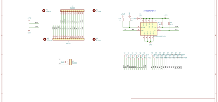 Schéma rozšíření s akcelerometrem