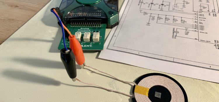 Měření impedance cívky