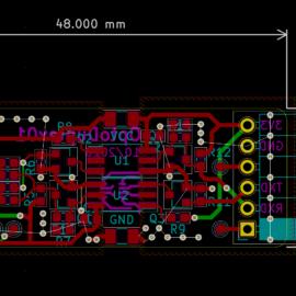 Náhled na návrh desky plošných spojů
