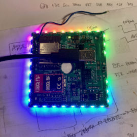 Běžící duha na RGB LED