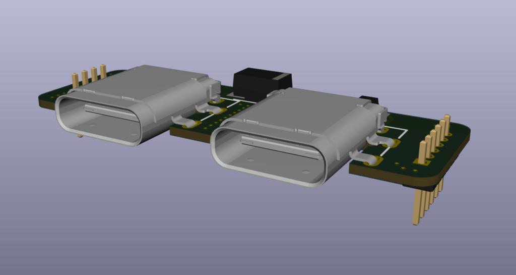 Deska s USB-C konektory