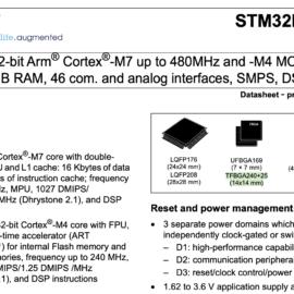 Náhled datasheetu stm32h757