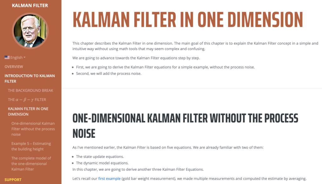 Náhled na tutoriál Kalmanova filtru