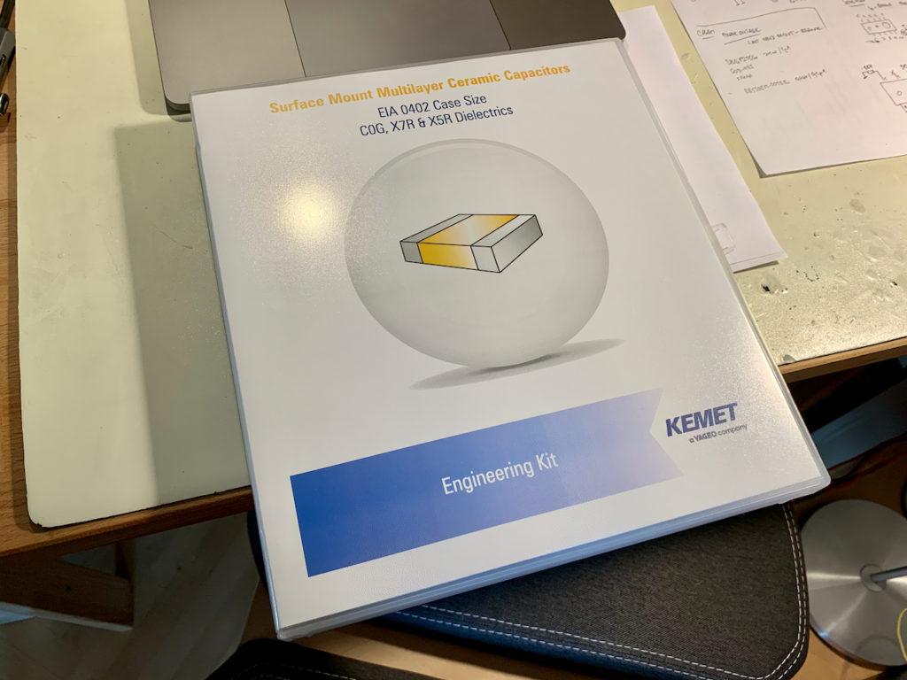 Kemet 0402 capacitor engineering kit