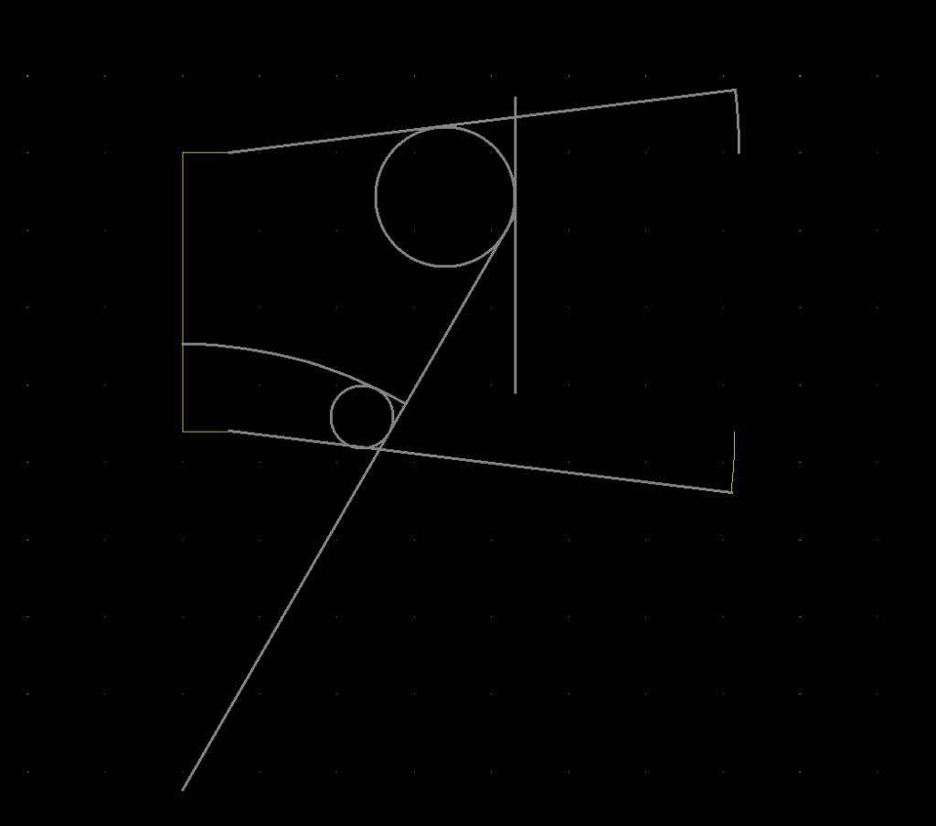 Náhled na kreslení tvarů desky