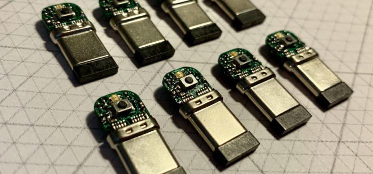 8 vyrobených modulů USBtag