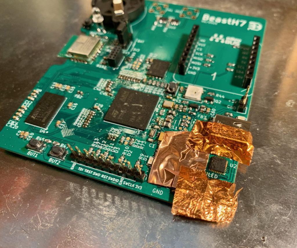 Oprava desky BeastH7