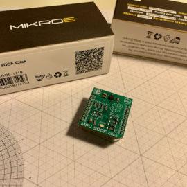 Pohled na MPU 9DOF Click modul