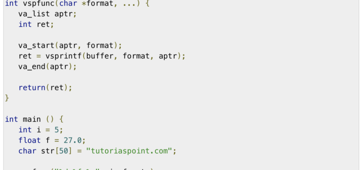 Ukázka wrapperu funkce vsprintf