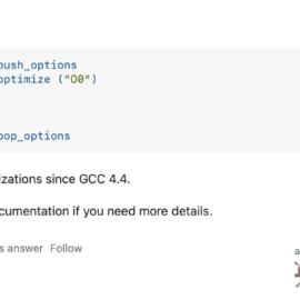 Nastavení optimalizací v C