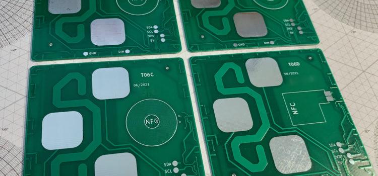 4 různé NFC antény