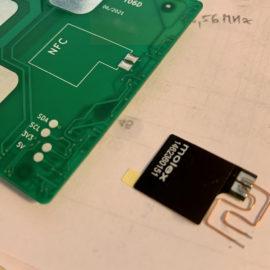 Ukázka propojek pro NFC anténu
