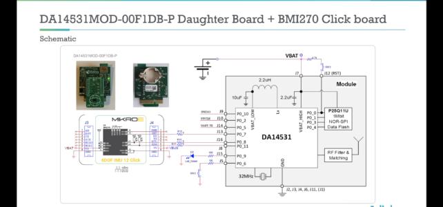 Schéma připojení MikroBUS k DA14531