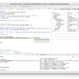 Náhled na IDE s kódem