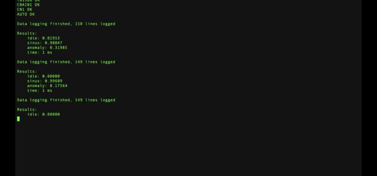 Ukázka výpisy práce classifieru