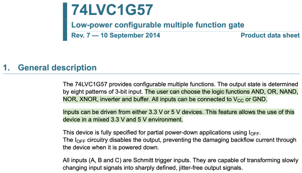 Náhled na datasheet 75LVC1G57