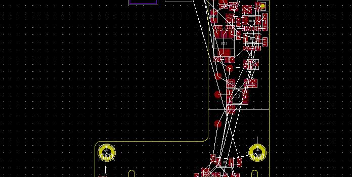Rozmístěné součástky na desce plošných spojů