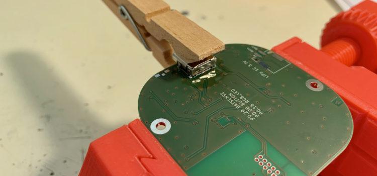 Pájení USB Type-C konektoru