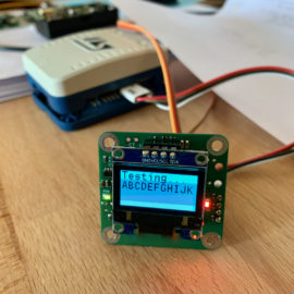 Testovací kód pro OLED displej